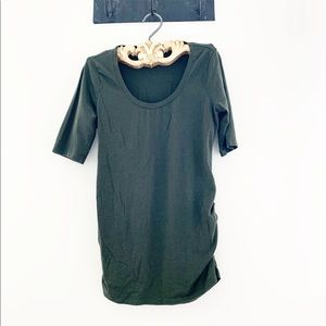Army green maternity top